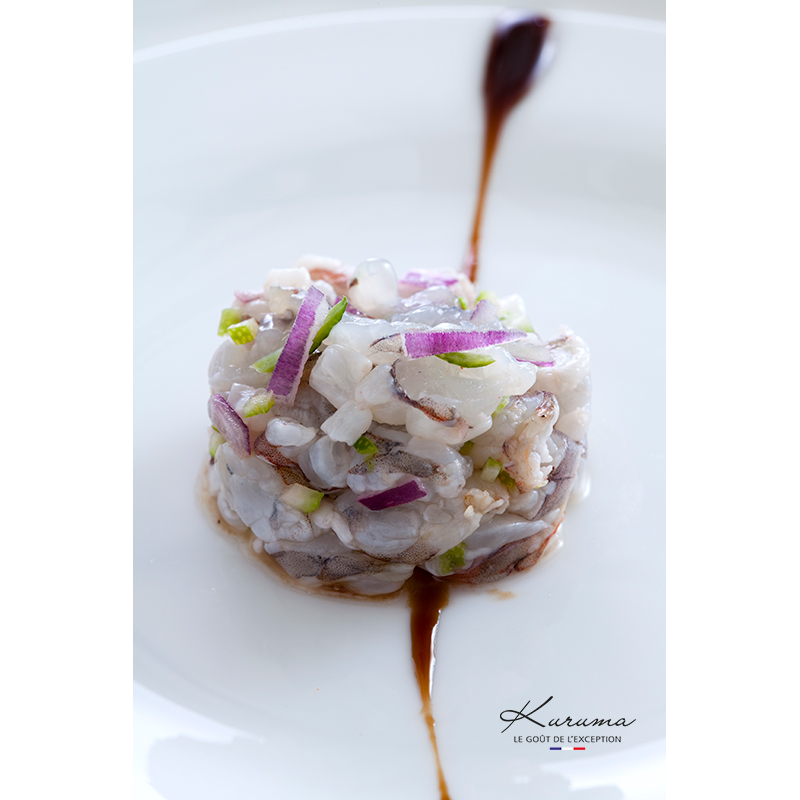 Kuruma shrimp tartar recipe